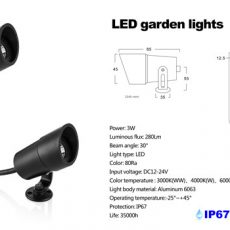3W LED Garden Lights